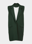Green Gilet with Single Button