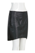 High Low Skirt in Leather Look