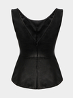 Pleated Vest with Scoop Back
