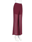 Chiffon High-Waist Wide Leg Trousers