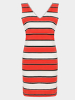 Stripes Mini Dress With V-Neck