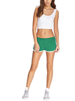 Green Elastic Waist Running Shorts