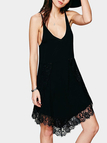 Black Cami Dress With Lace Details