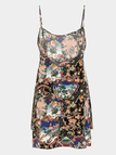 Floral Print Cami Top With Side Split