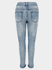 Ankle Length Slim Boyfriend Jeans With Rips