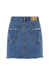 Destroyed A-line Denim Skirt