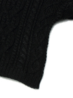 Jacquard Knit Jumper in Black