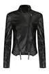 Faux Leather Jacket with Front Zippers