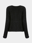 Fluffy Jumper in Black