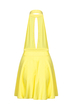 Yellow Skater Dress with Open Back