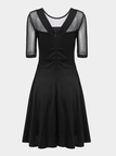 Dress with Mesh Yoke and Sleeves