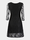 Lace Dress with 3/4 Length Sleeve