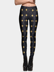 Black Fashion Star Pattern Leggings