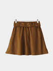 Suede Mini Skirt with Belt