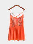 Bohemia Style Sleeveless Top with Embroidery Pattern