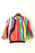 Multicolored Cropped Sweatshirt with Three Quarter Sleeves