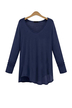 Plus Size Navy V-neck Base Shirt