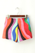 Multicolored Shorts with Patch Pockets