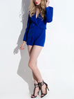 Suit Playsuit with Flap Pocket