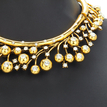 Gold Embellished Crystal Choker Necklace and Drop Earrings