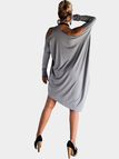 Grey One Shoulder Loose Casual Dress