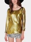 Gold Long Sleeve Loose Top