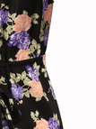 Plunge V-neck Floral Print Backless Playsuit