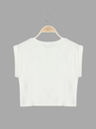 Fashion Round Neck Crop T-shirt