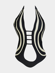 Sleeveless Swimsuit with Cutout Details