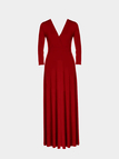Plus Size Red Plunge V-Neck Maxi Dress