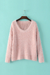 Pink Knitwear with Long Sleeve