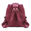 Red Leather look Backpack with big Front Pocket