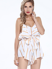 Stripe Knot Front Cami Playsuit