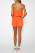 Off The Shoulder Playsuit with Layered Details in Orange