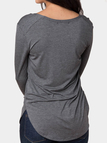 Dark Grey Long Sleeves Top