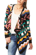Knitted Cardigan with All Over Print