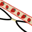 Pastoral Strawberry Embroidered Tape Headband