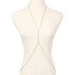 White Crystal Embellished Crossover Body Chain