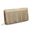 Tassel Leather-look Long Purse in Gold
