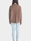 Perkins Collar Ribbing Knitted Jumper in Khaki