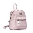 Croc Leather-look Mini Backpack in Light Pink