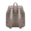 Textured Leather-look Backpack in Light Taupe with Tassel