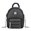 Rivet Deisgn Leather-look Mini Backpack in Black