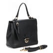 Black Leather-look Handbag with twin roomy compartments Design
