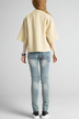 Apricot Open Front Raglan Sleeve Cardigan with Eyelet Detail