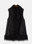 Fringed Artificial Suede Gilet
