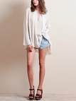 V Neck Oversized Blouse