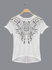 Tribe Print Pattern Transparent T-shirt