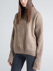 High Neck Sweater in khaki