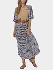 Maxi Beach Dress with Floral Print Pattern